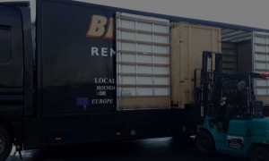 Loading the Truck at Brian and Sons Removals and Storage