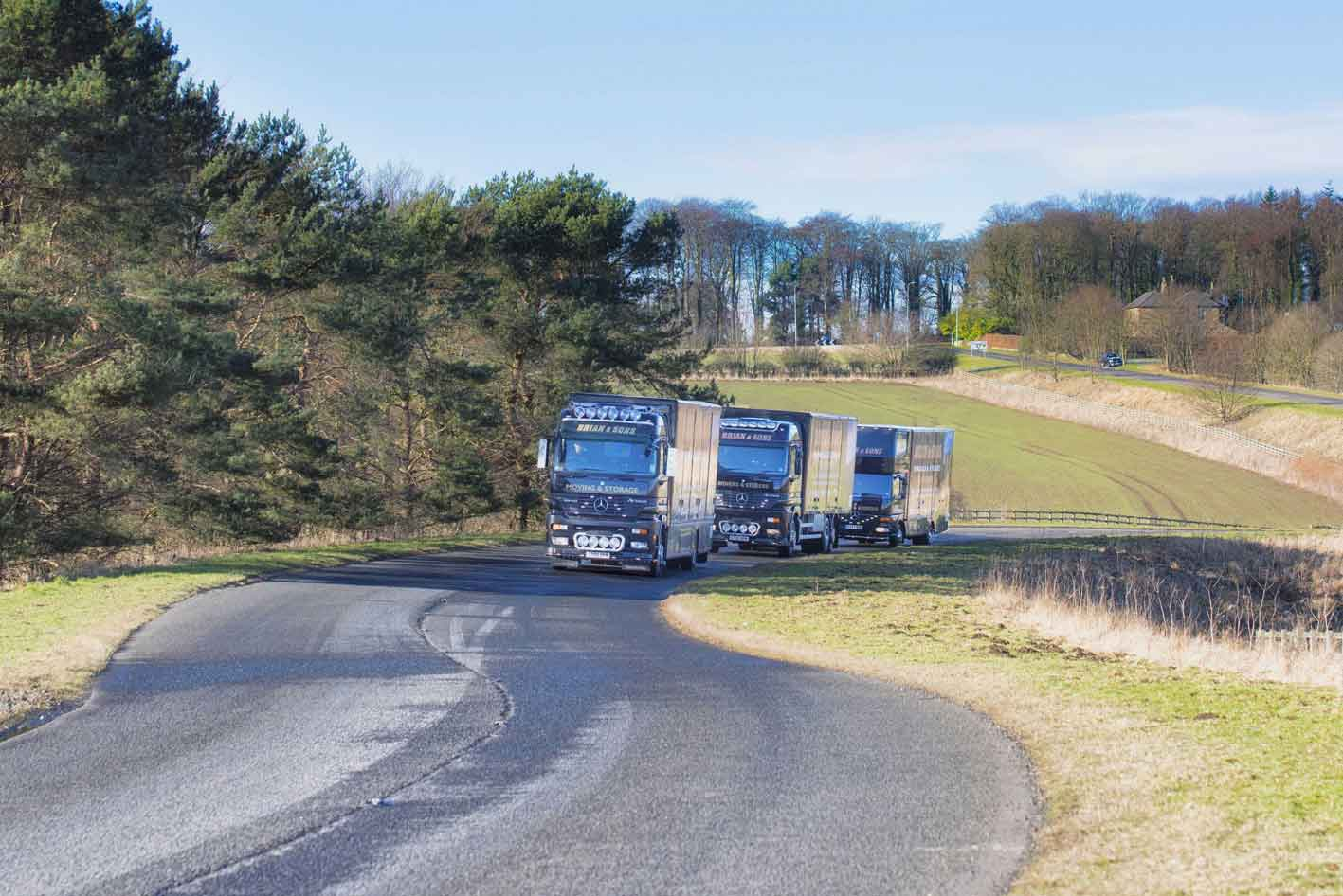 Brian and Sons Removals and Storage on the Road