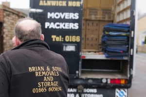 Loading the Truck at Brian and Sons Removals