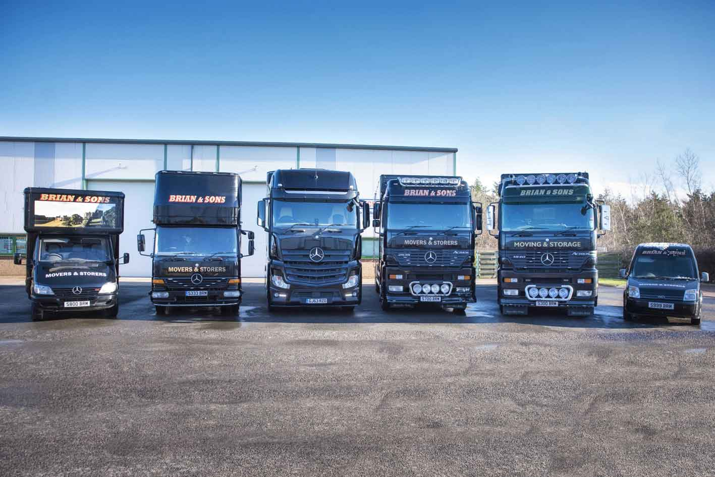 The Fleet at Brian and Sons Removals and Storage