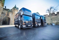 Brian and Sons Removals Outside Alnwick Castle